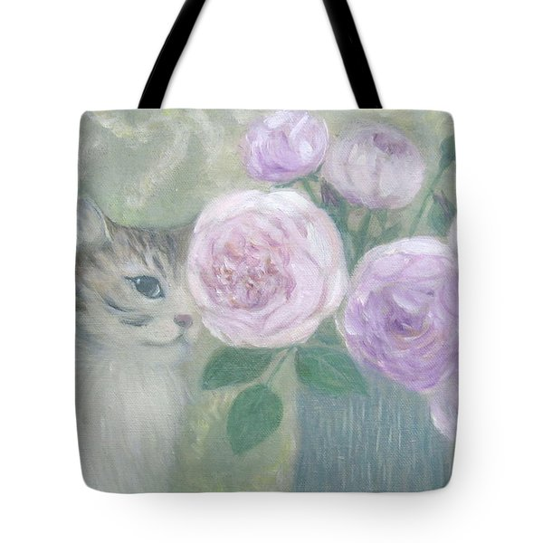 Jill And Roses Tote Bag