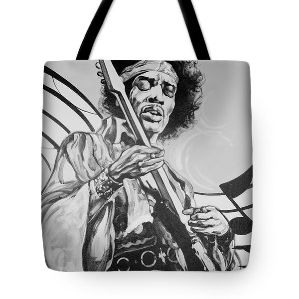 Jimi In Black And White  Tote Bag