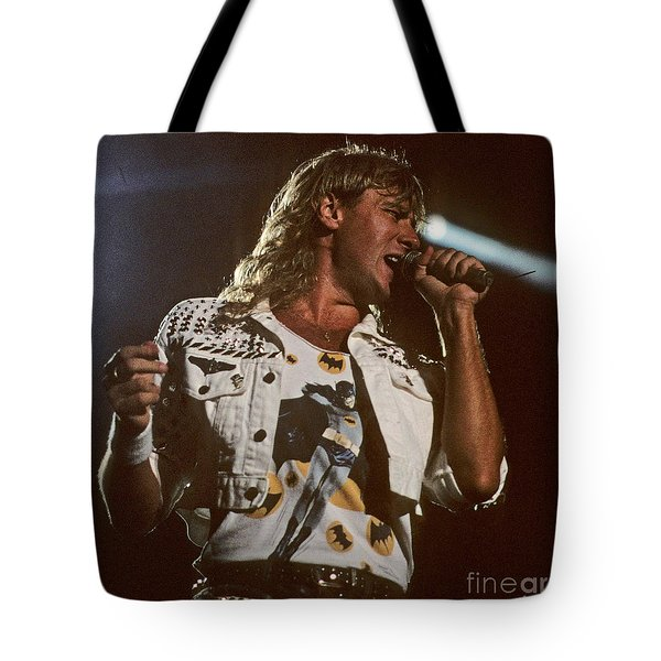 Joe Elliot Tote Bag by David Plastik