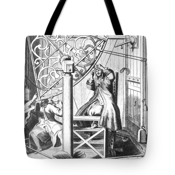 Johannes Hevelius And His Assistant Tote Bag by Science Source