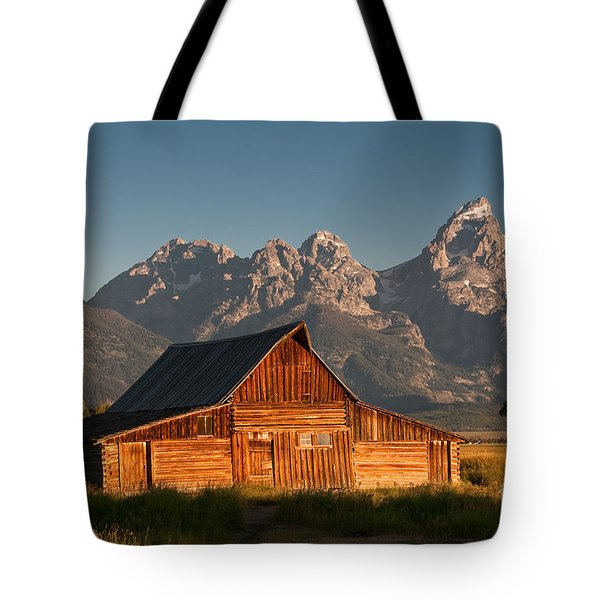 John And Bartha Moulton Barn Tote Bag by Stuart Wilson and Photo Researchers