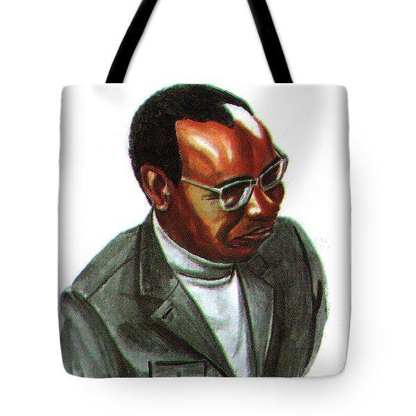 John Mbiti Tote Bag by Emmanuel Baliyanga