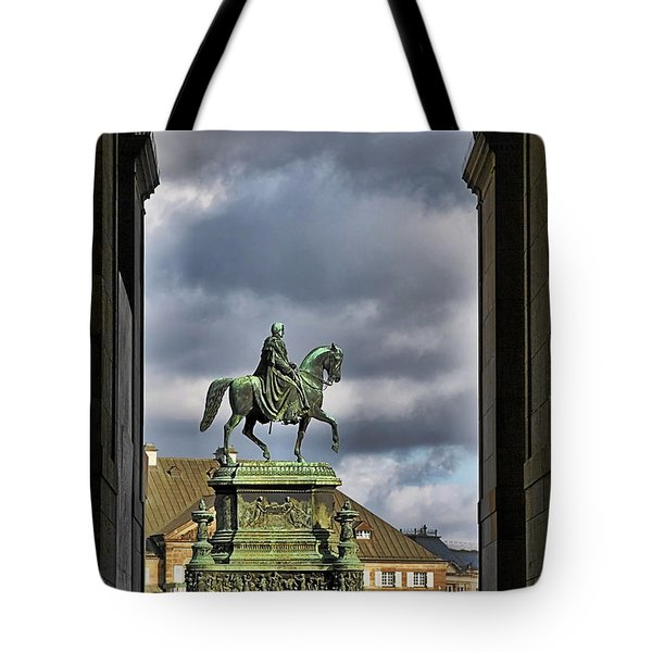 John Of Saxony Monument - Dresden Theatre Square Tote Bag by Christine Till