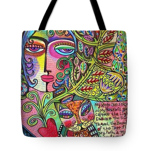 Journey Of The Heart Tote Bag