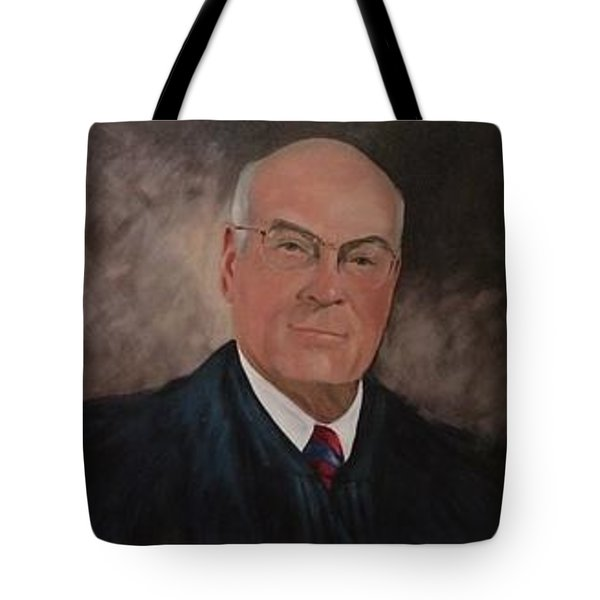 Tote Bag featuring the painting Judge J.s. Daniel by Carol Berning