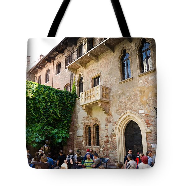 Juliets Balcony Tote Bag by Jon Berghoff