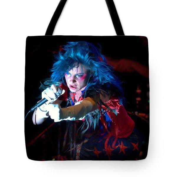Juliette Lewis Tote Bag by Jeff Ross