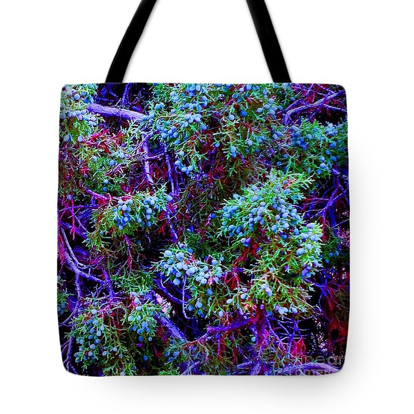 Tote Bag featuring the photograph Juniper Neurons by Ann Johndro-Collins