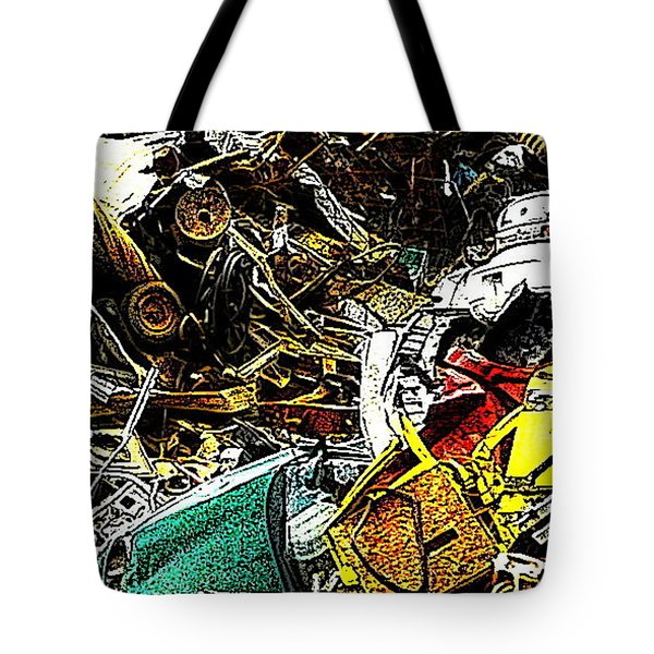 Tote Bag featuring the photograph Junky Treasure by Lydia Holly