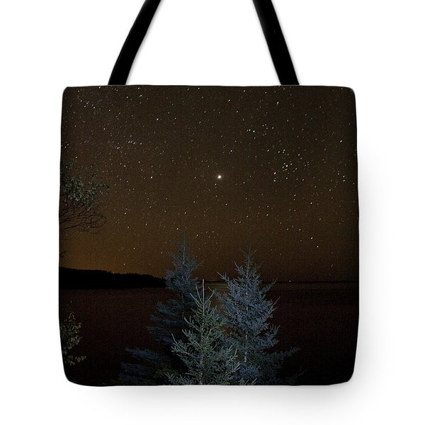 Tote Bag featuring the photograph Jupiter  Over Otter Point 2 by Brent L Ander