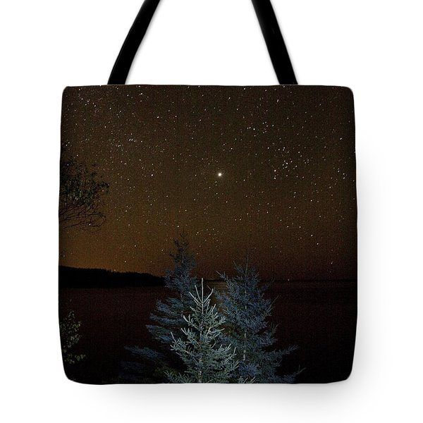 Tote Bag featuring the photograph Jupiter  Over Otter Point 3 by Brent L Ander