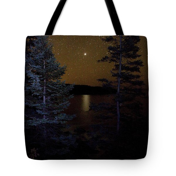 Tote Bag featuring the photograph Jupiter Rising Over Otter Point by Brent L Ander