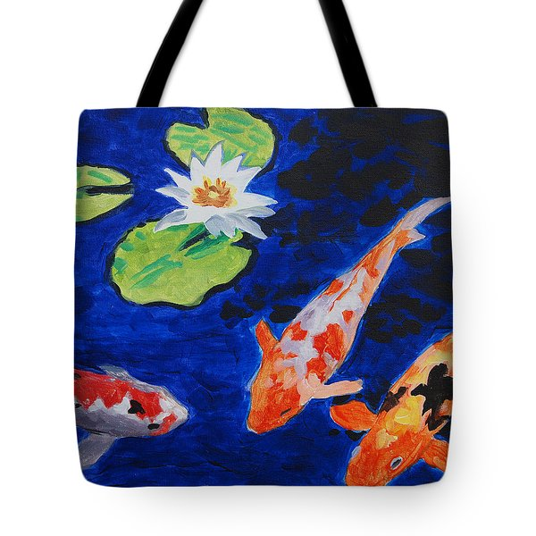 Just Being Koi Tote Bag