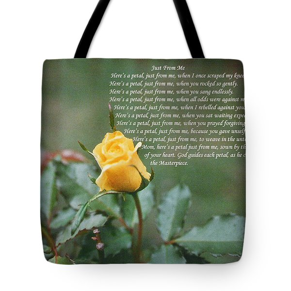 Just From Me Tote Bag