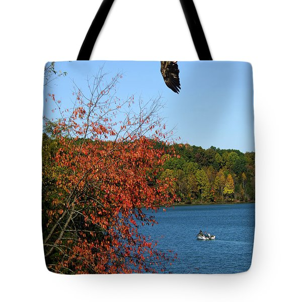 Tote Bag featuring the photograph Juvenile And Fishermen by Randall Branham
