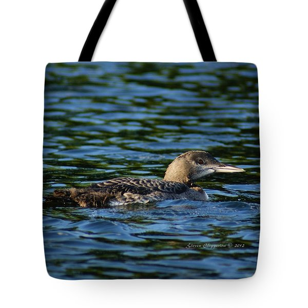 Juvenile Loon Tote Bag by Steven Clipperton