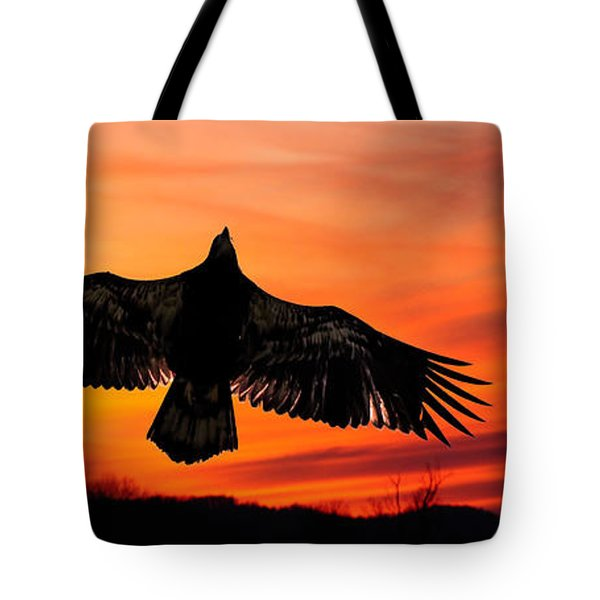 Tote Bag featuring the photograph Juvenile Sunset  by Randall Branham