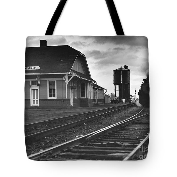 Kansas Train Station Tote Bag by Myron Wood and Photo Researchers