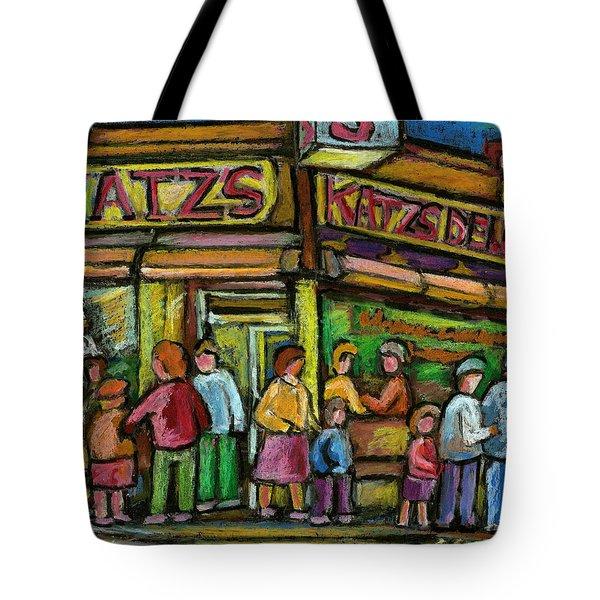 Katz's Houston Street Deli Tote Bag by Carole Spandau