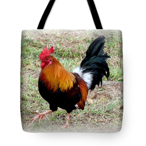 Tote Bag featuring the photograph Kauai Rooster by Carol Sweetwood