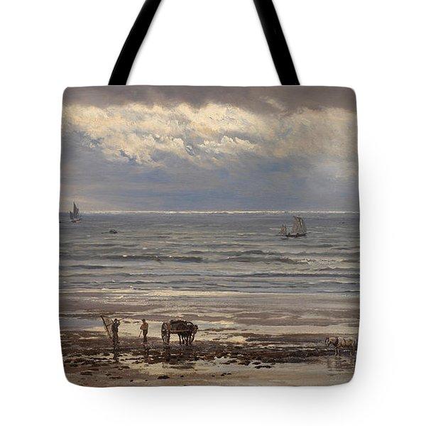 Kelp Gatherers Tote Bag by Henry Moore