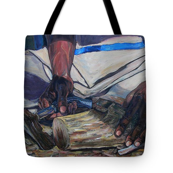 Kenny's Hands Tote Bag by Li Newton