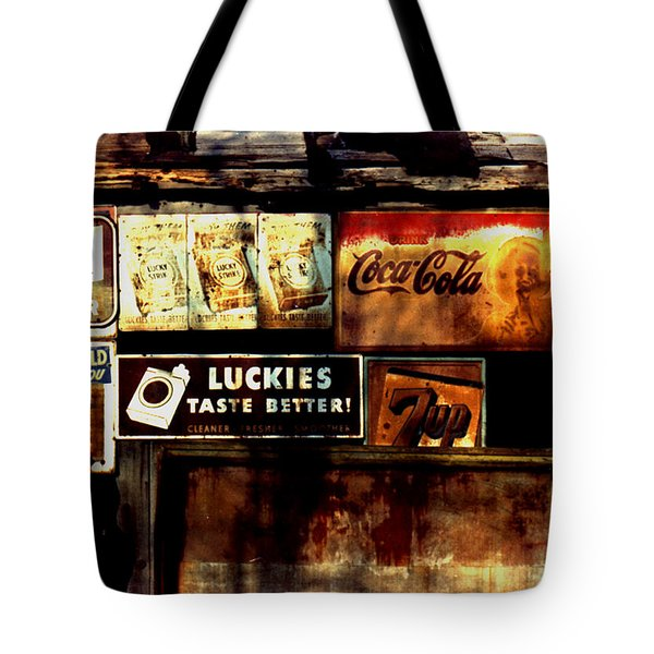 Kentucky Shed Ad Signs Tote Bag