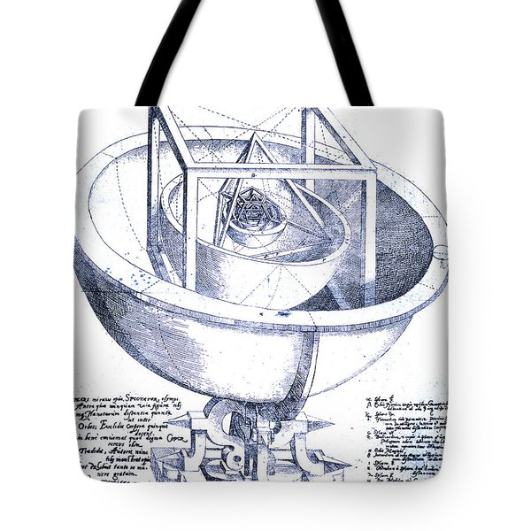 Keplers Planetary Orbit Tote Bag by Science Source