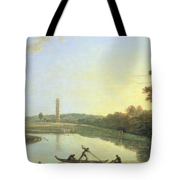 Kew Gardens - The Pagoda And Bridge Tote Bag by Richard Wilson