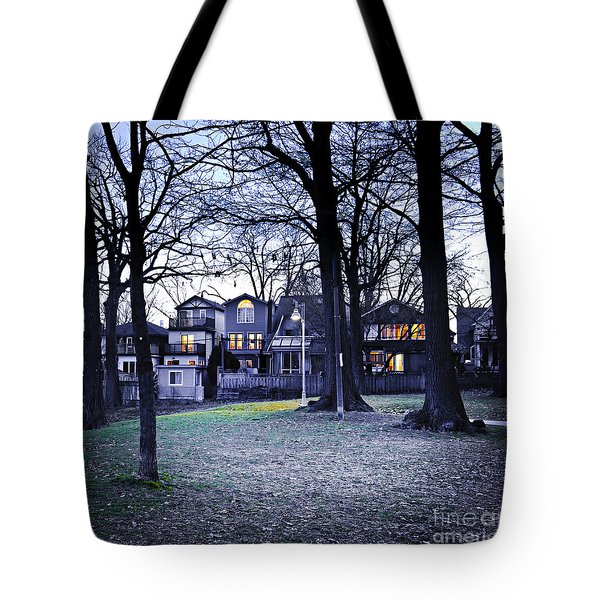 Kew Park At Dusk Tote Bag by Elena Elisseeva