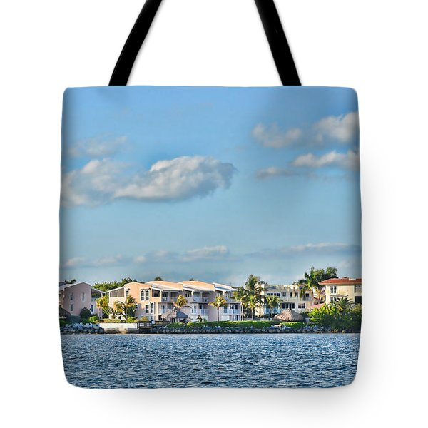 Key Largo Houses Tote Bag by Chris Thaxter