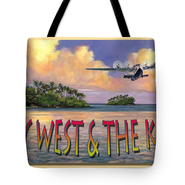 Tote Bag featuring the painting Key West Air Force by David  Van Hulst