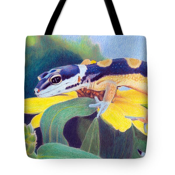 Kiiro The Gecko Tote Bag