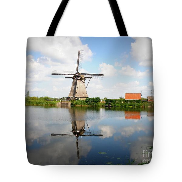 Kinderdijk Windmill Tote Bag by Lainie Wrightson