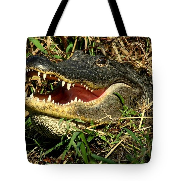 Tote Bag featuring the photograph King Of The Swamp by Myrna Bradshaw