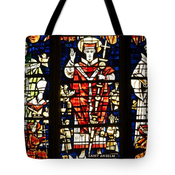 Kings And Holy Men Medieval Stained Glass Collage Tote Bag by Lisa Knechtel