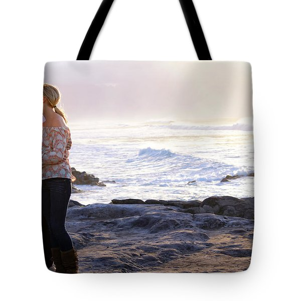 Kissed By The Ocean Tote Bag by Dawn Eshelman