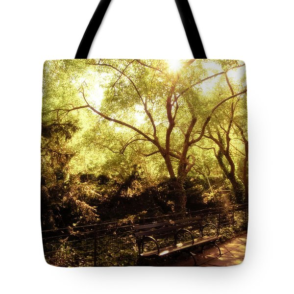 Kissed By The Sun - Central Park - New York City Tote Bag by Vivienne Gucwa