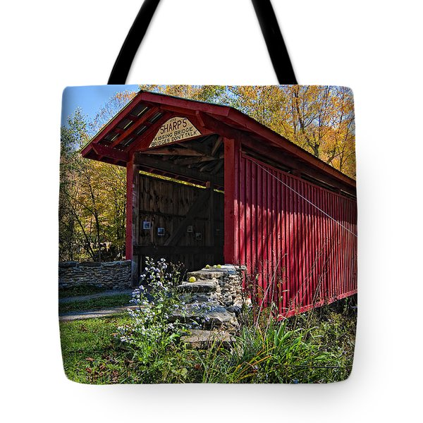 Kissing Bridge 2 Tote Bag by Steve Harrington