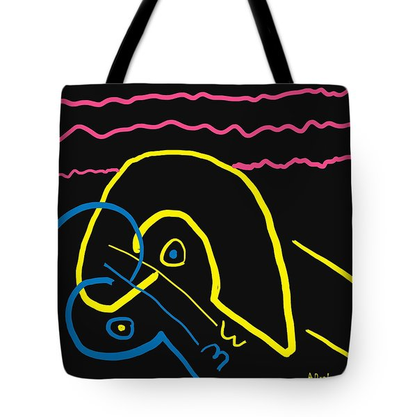 Kissing On The Beach Tote Bag by Alec Drake