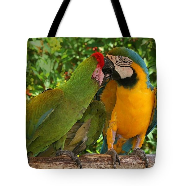Kissy Kissy Mccaws Tote Bag by Sabrina L Ryan