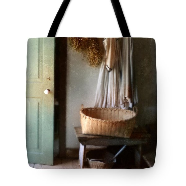 Kitchen Door In Old House Tote Bag by Jill Battaglia