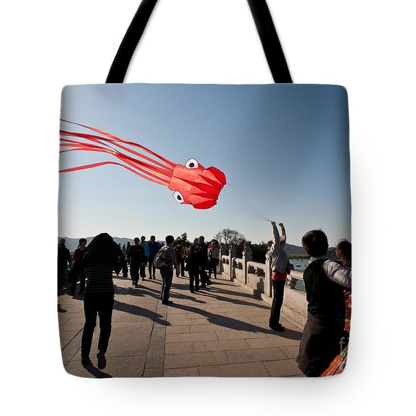 Kite Aloft Tote Bag by Mike Reid