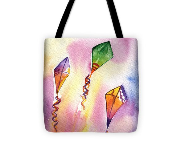 Kite Rockets Tote Bag by Lydia Irving
