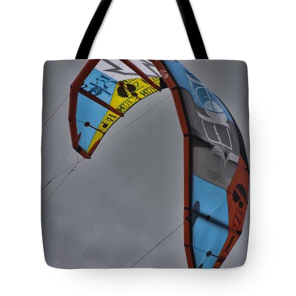 Kite Surfing Tote Bag by Douglas Barnard