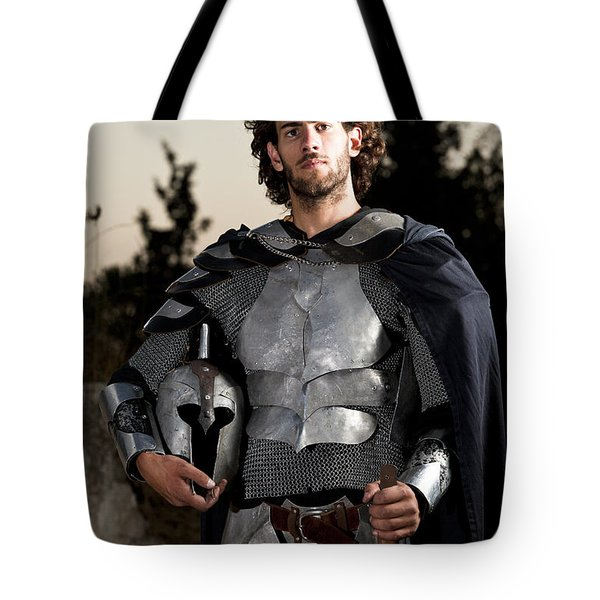 Knight In Shining Armour Tote Bag by Yedidya yos mizrachi