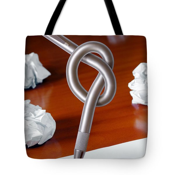 Knot On Pen Tote Bag by Carlos Caetano