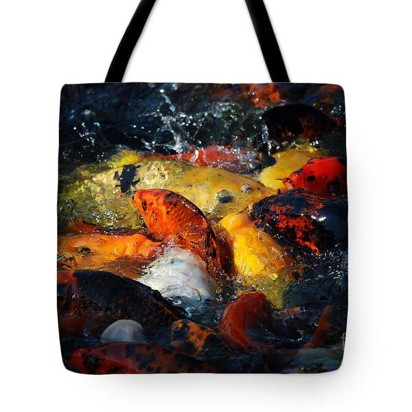 Tote Bag featuring the photograph Koi Fish by Eva Kaufman