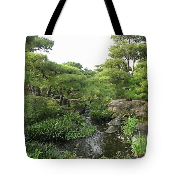Kokoen Samurai Gardens - Himeji City Japan Tote Bag by Daniel Hagerman