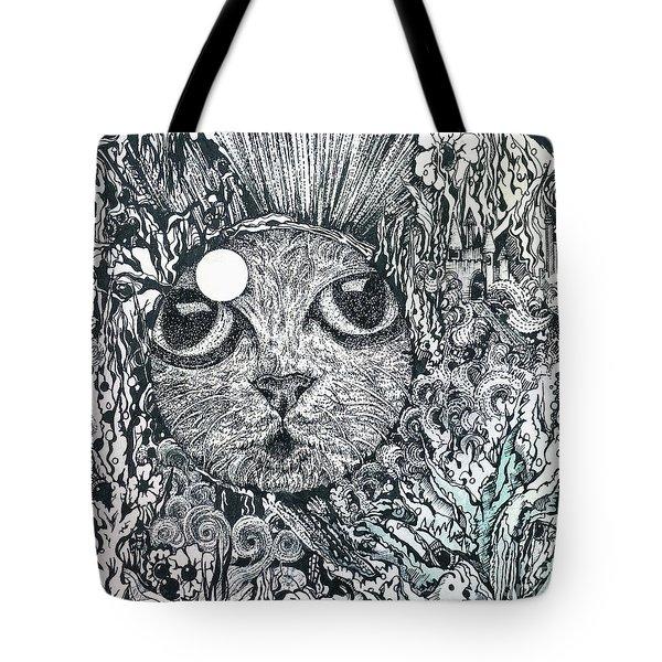 Cat In A Fish Bowl Tote Bag